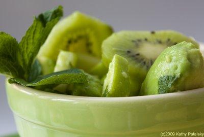 spring green fruit salad