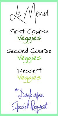 le menu veggie