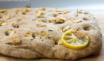 summertime whole wheat focaccia