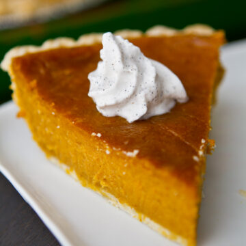 four ingredient pumpkin pie