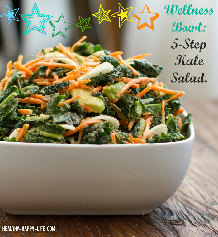 5 Step Raw Kale Salad Healthyhappylife Com