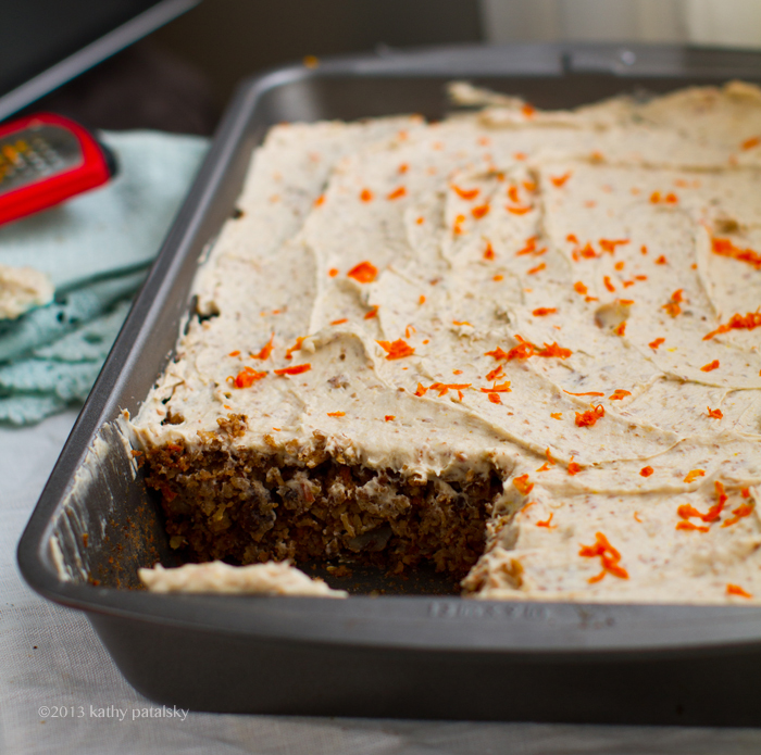 Vegan Carrot Cake with Cream Cheese Frosting