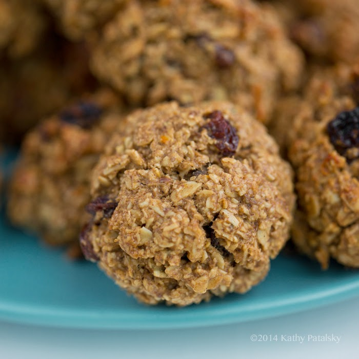oatmeal cookies up close