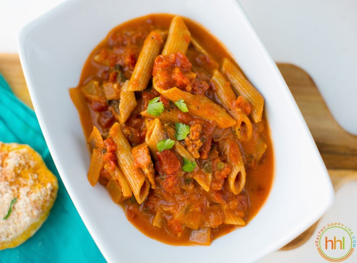 Spicy Tomato Pasta Stew