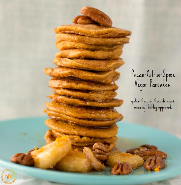 Pecan-Citrus-Spice Holiday Pancakes
