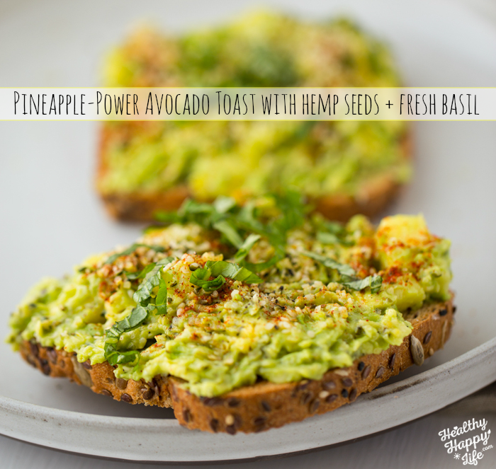 Pineapple Power Avocado Toast