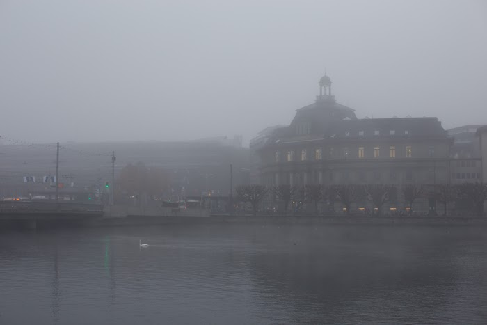so misty and magical on lake lucerne