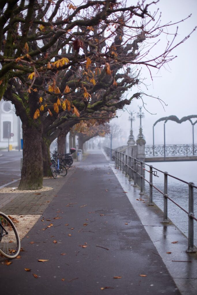 strolling along in lucerne, lakeside