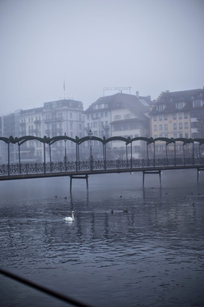 bridge over lake lucerne