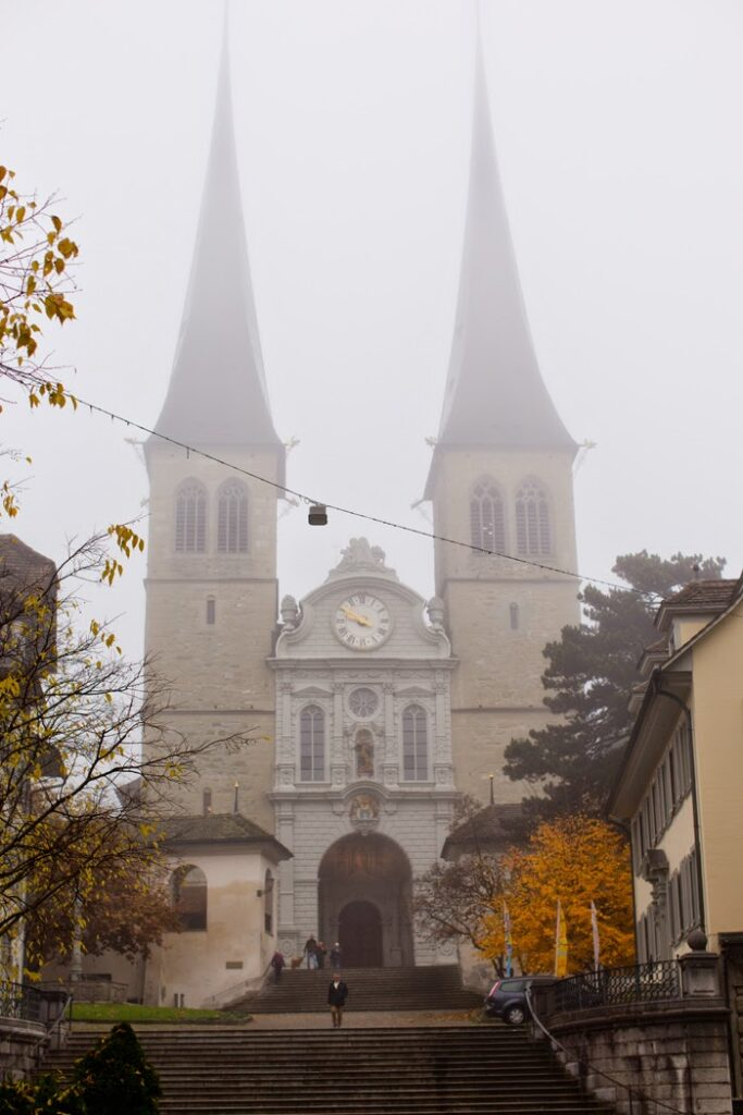 Lucerne church on the hill