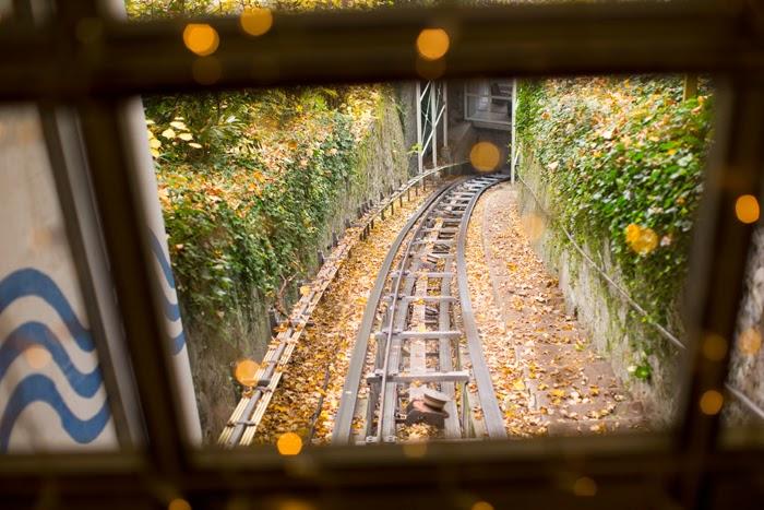 funicular at hotel montana