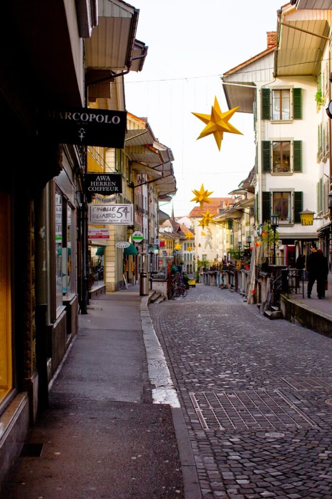 Shops in Thun on a Sunday