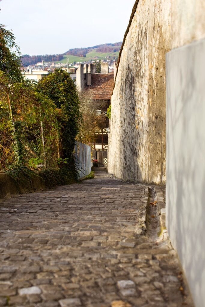 Thun cobblestone paths