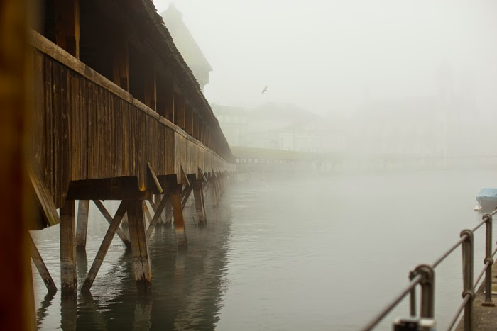 mist covering lake lucerne