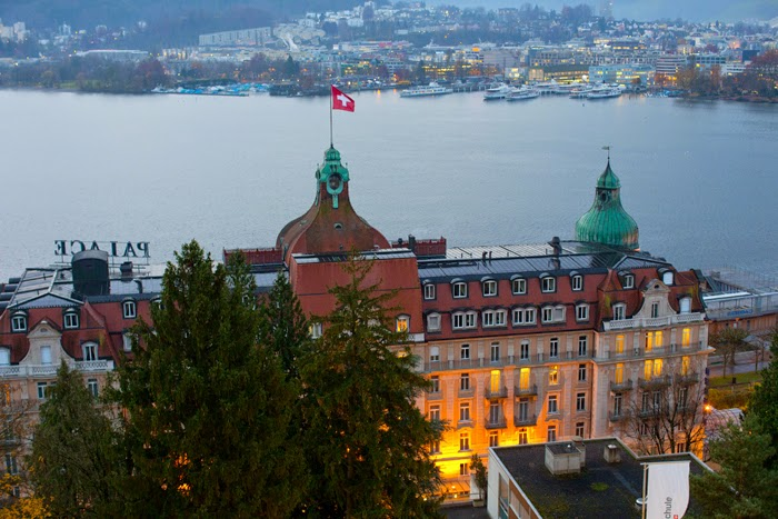 view from Hotel Montana Swiss