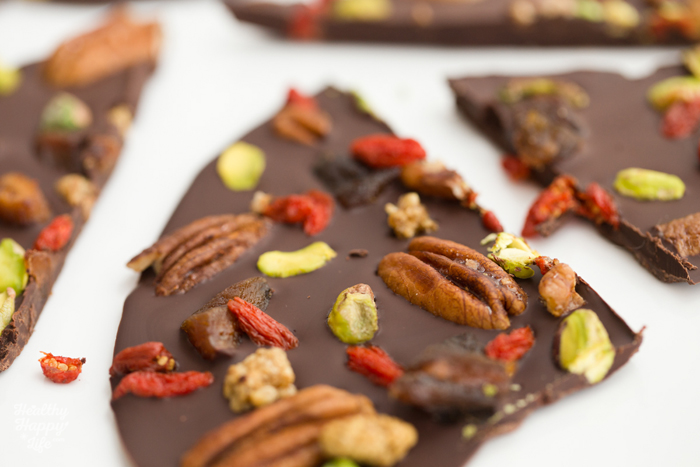 Fruit and nut Chocolate Bark