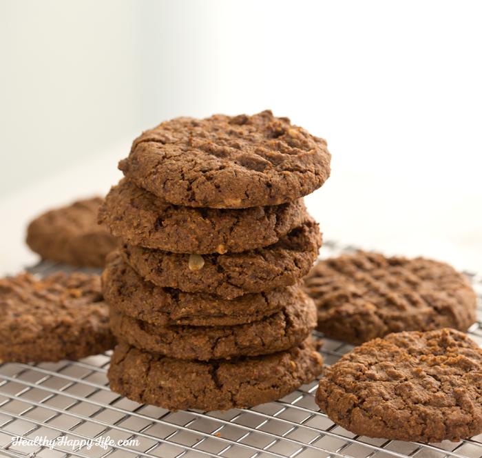 vegan peanut butter ginger cookies
