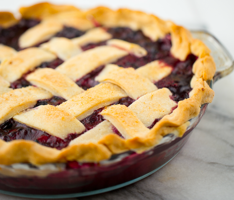 Berry Lattice Pie with homemade crust from Healthy Happy Vegan Kitchen