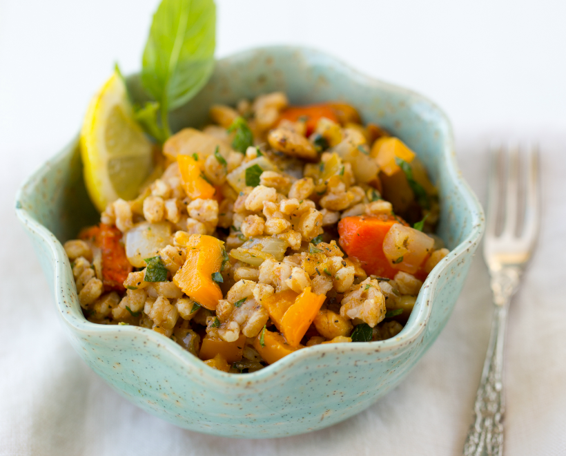 the best farro salad  from Healthy Happy Vegan Kitchen