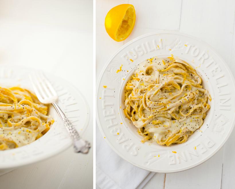 Lemon Fettuccine from Healthy Happy Vegan Kitchen