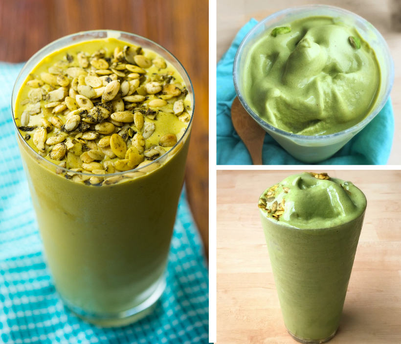 Kathy's famous matcha shake from Healthy Happy Vegan Kitchen