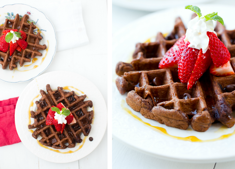 Chocolate Waffles from Healthy Happy Vegan Kitchen