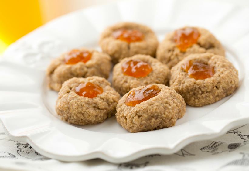 Almond Jam Thumbprint Cookies from Healthy Happy Vegan Kitchen