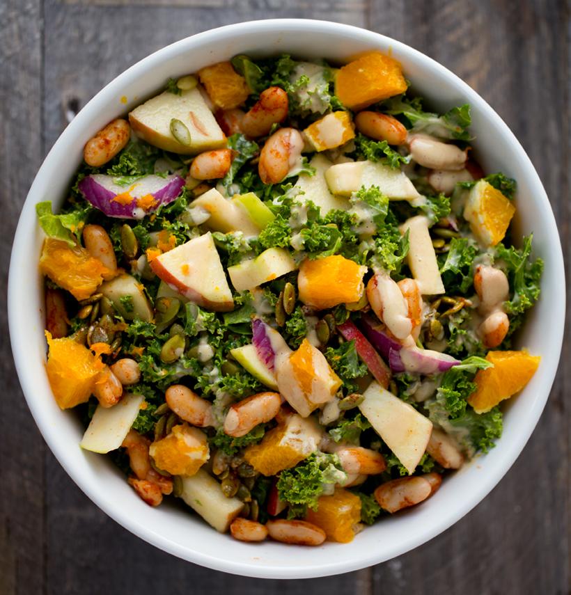 Fall Edition Six Step Kale Salad