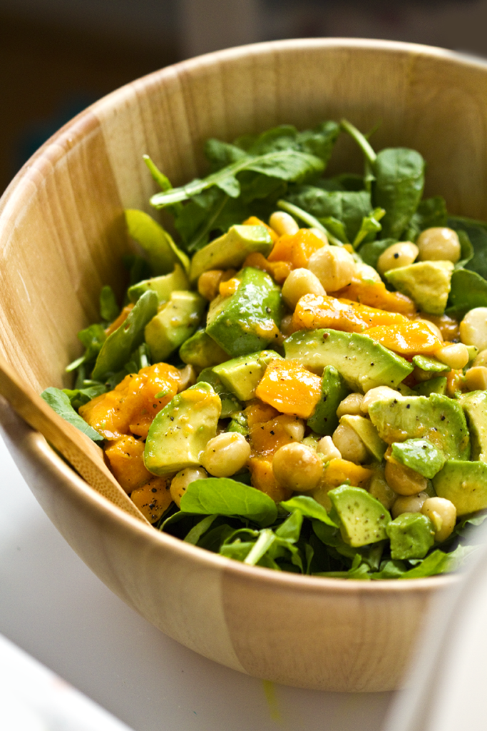 arugula mango avocado salad