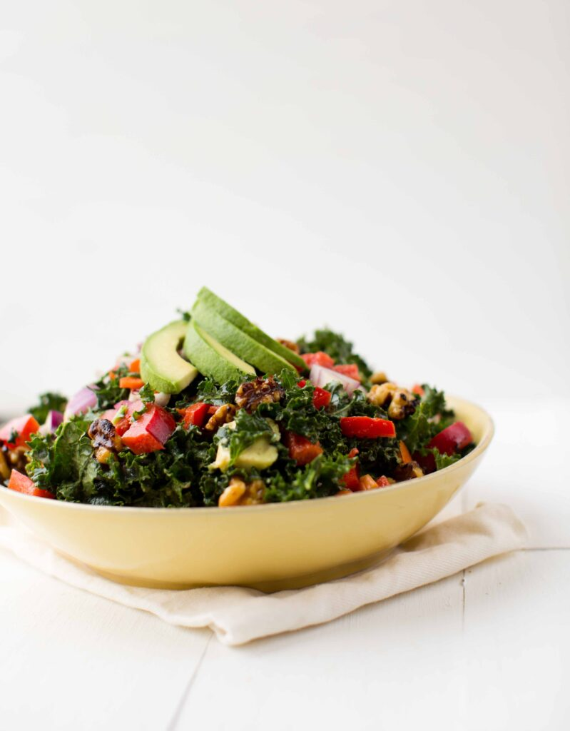 raw kale salad - hhvk