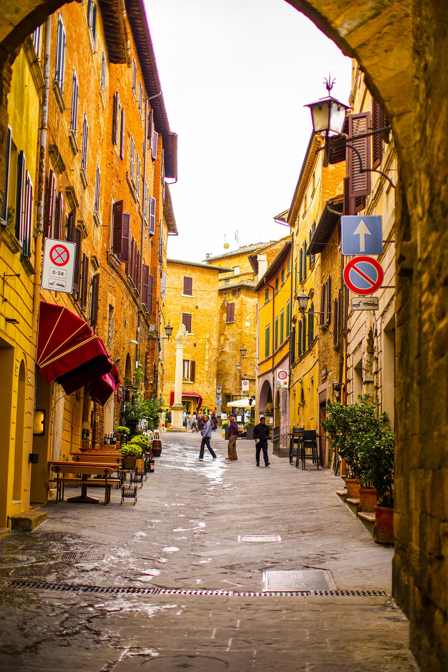uphill in montepulciano