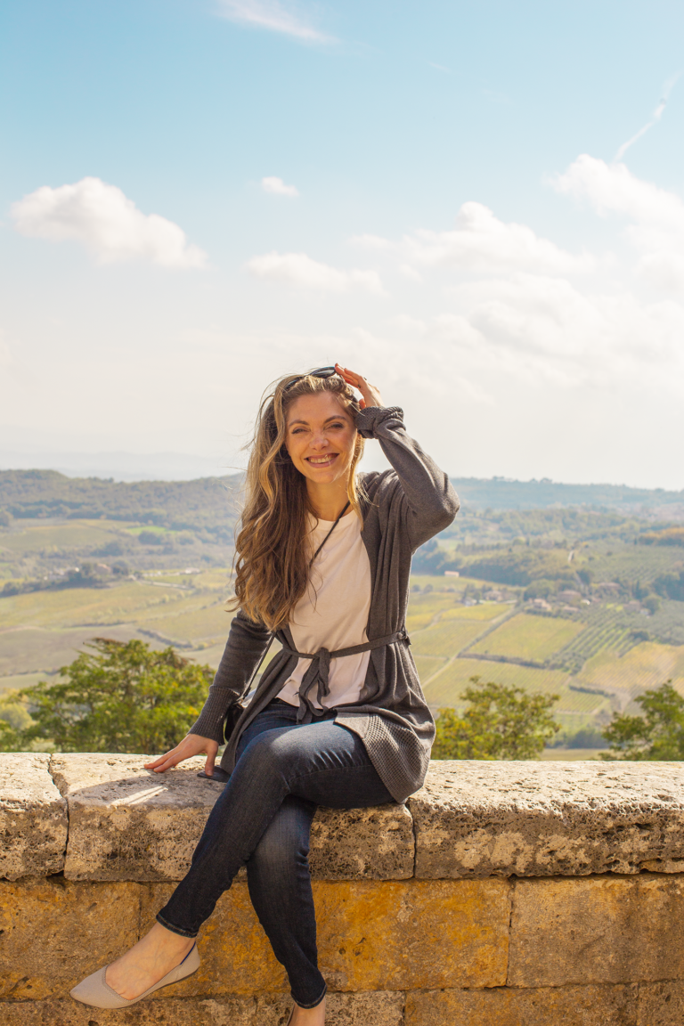 Kathy in Montepulciano Italy