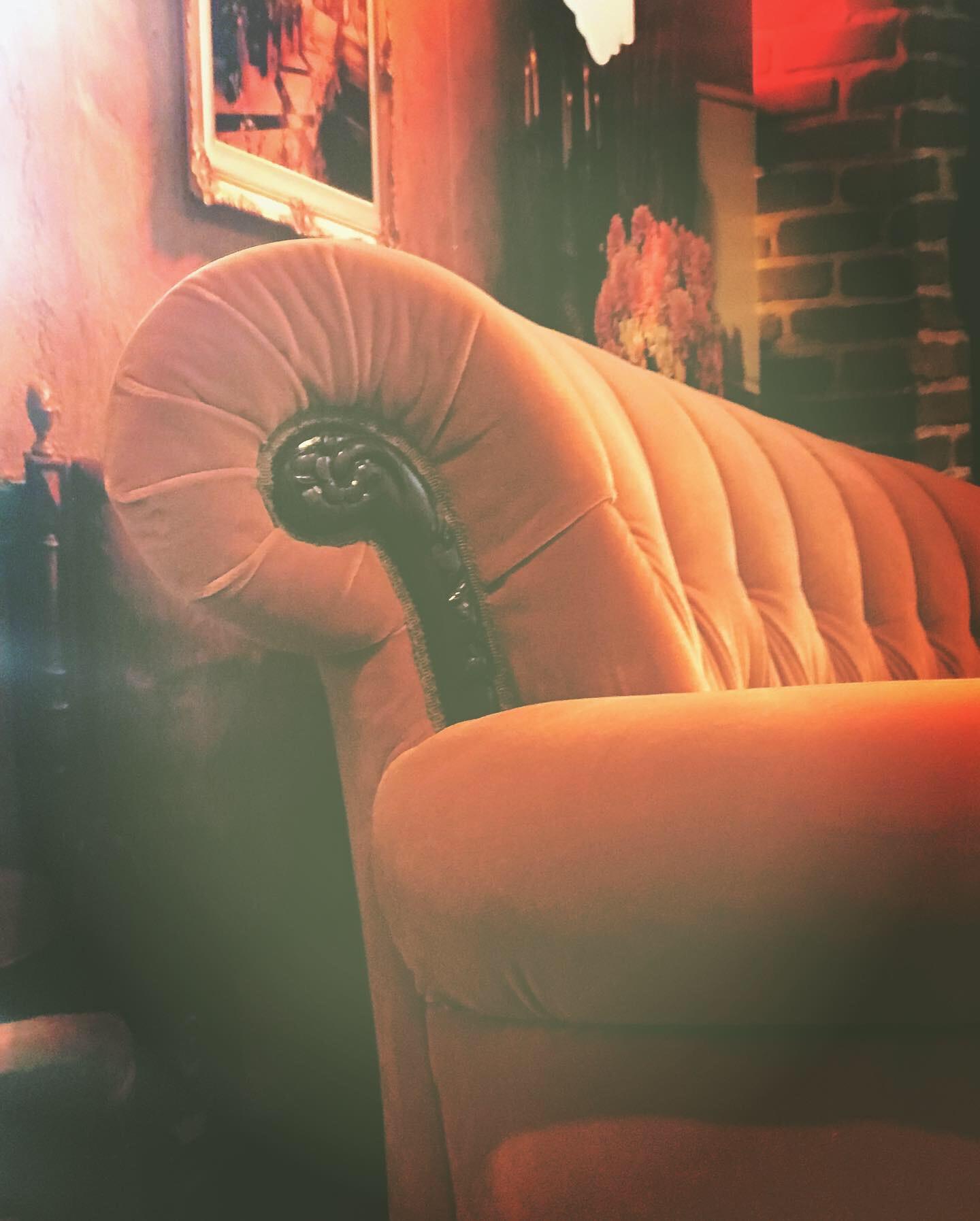 big orange couch friends pop up