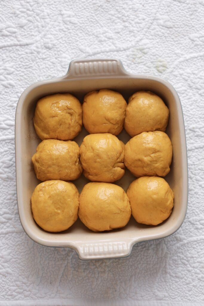 Soft Sweet Potato Rolls dough