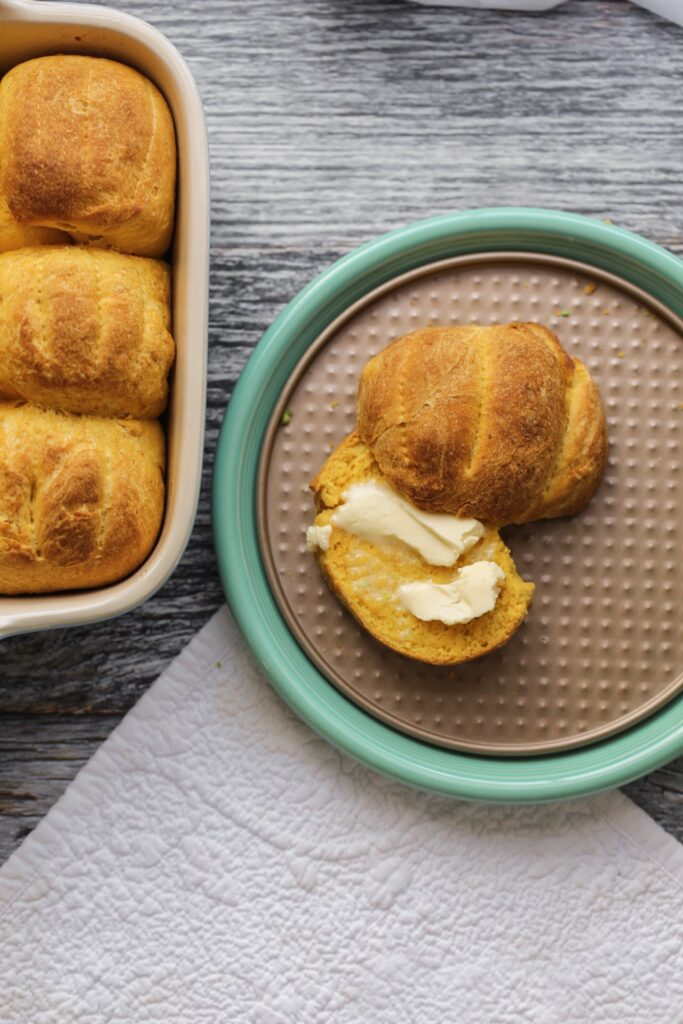 soft sweet potato rolls