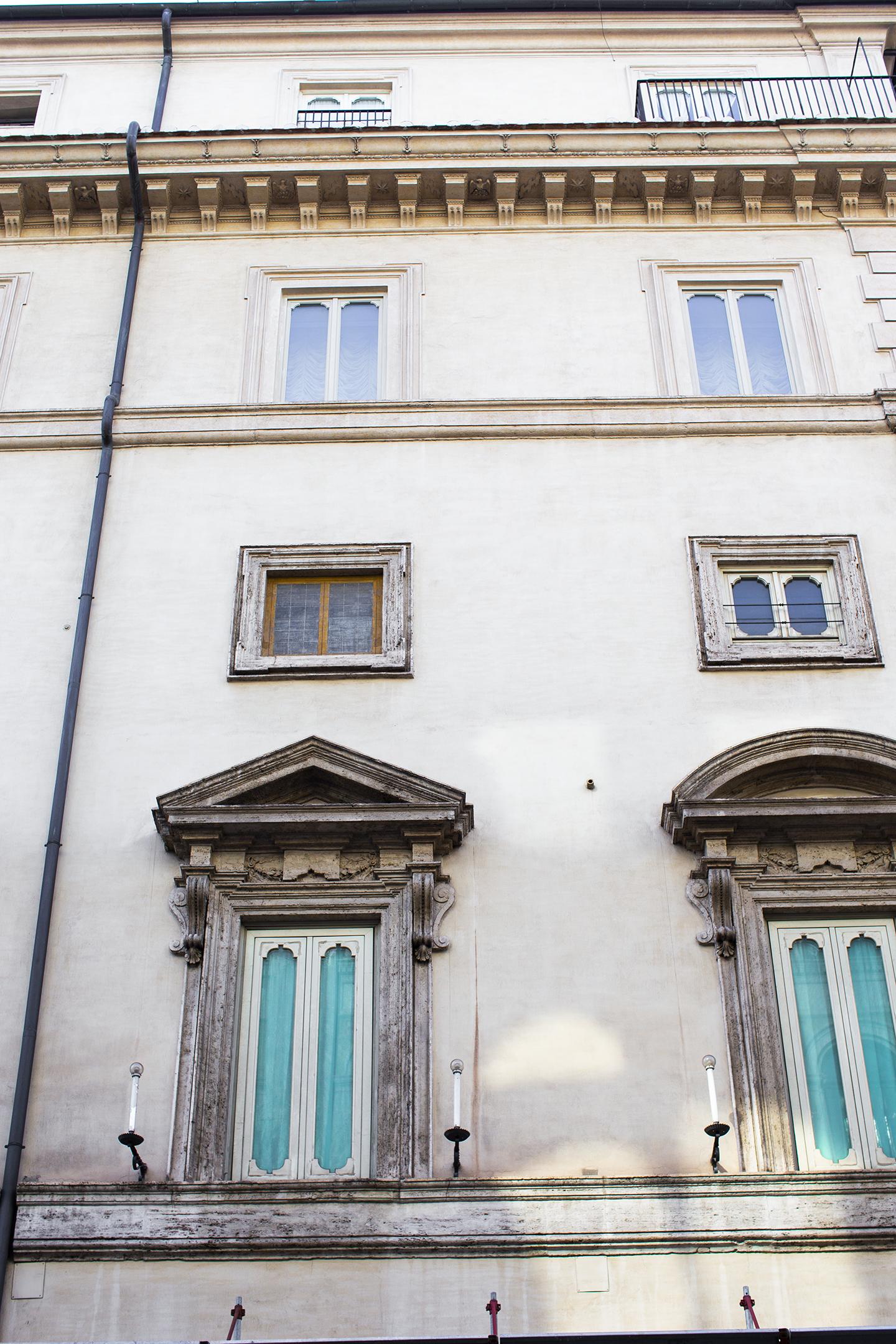 pretty blue windows in rome