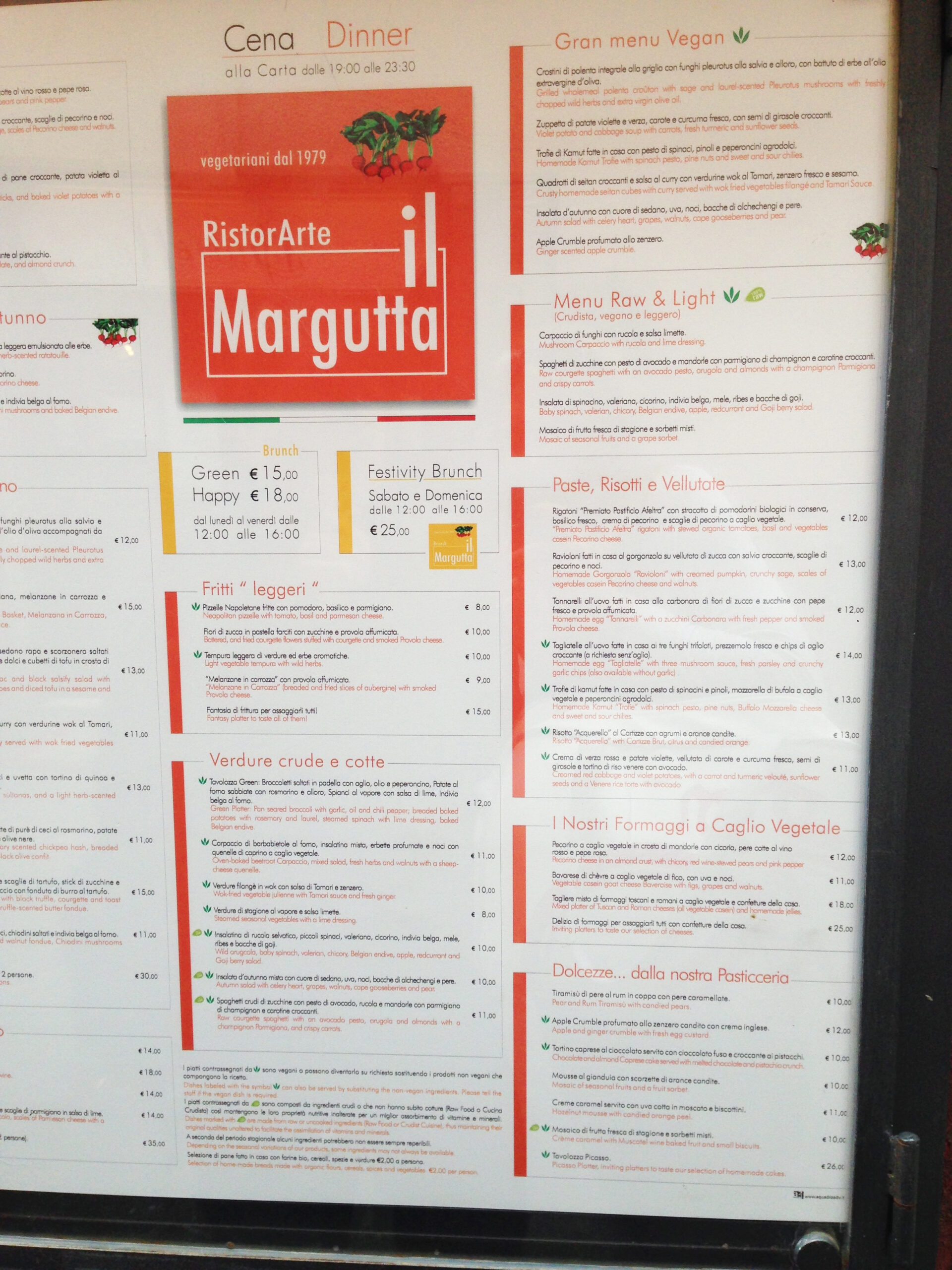 il margutta menu