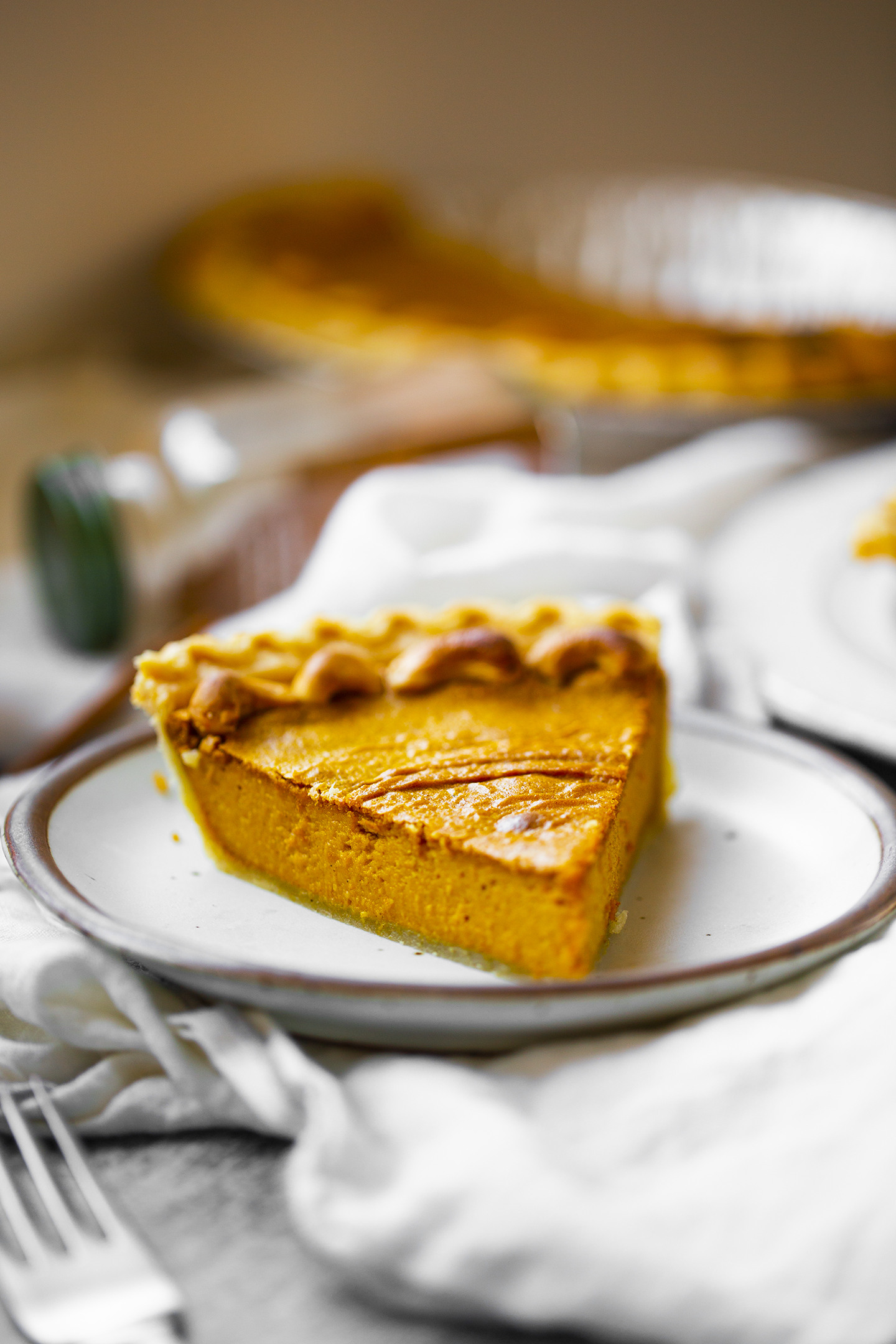two ingredient pumpkin pie