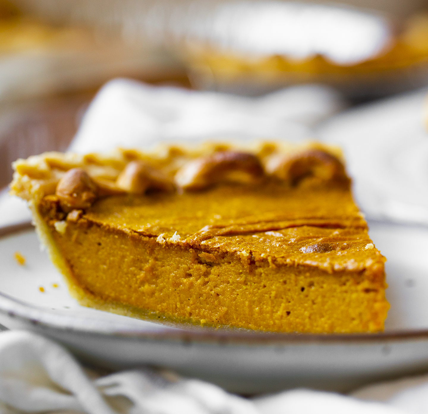 pumpkin pie slice for thanksgiving