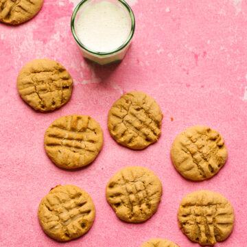 galletas de mantequilla de maní y arce