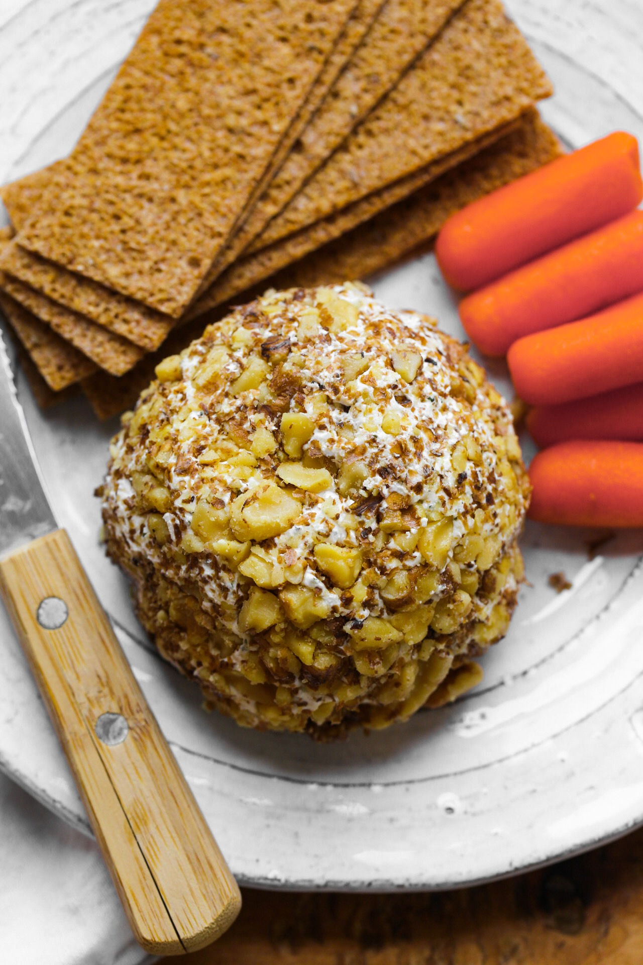 walnut crusted cheese ball