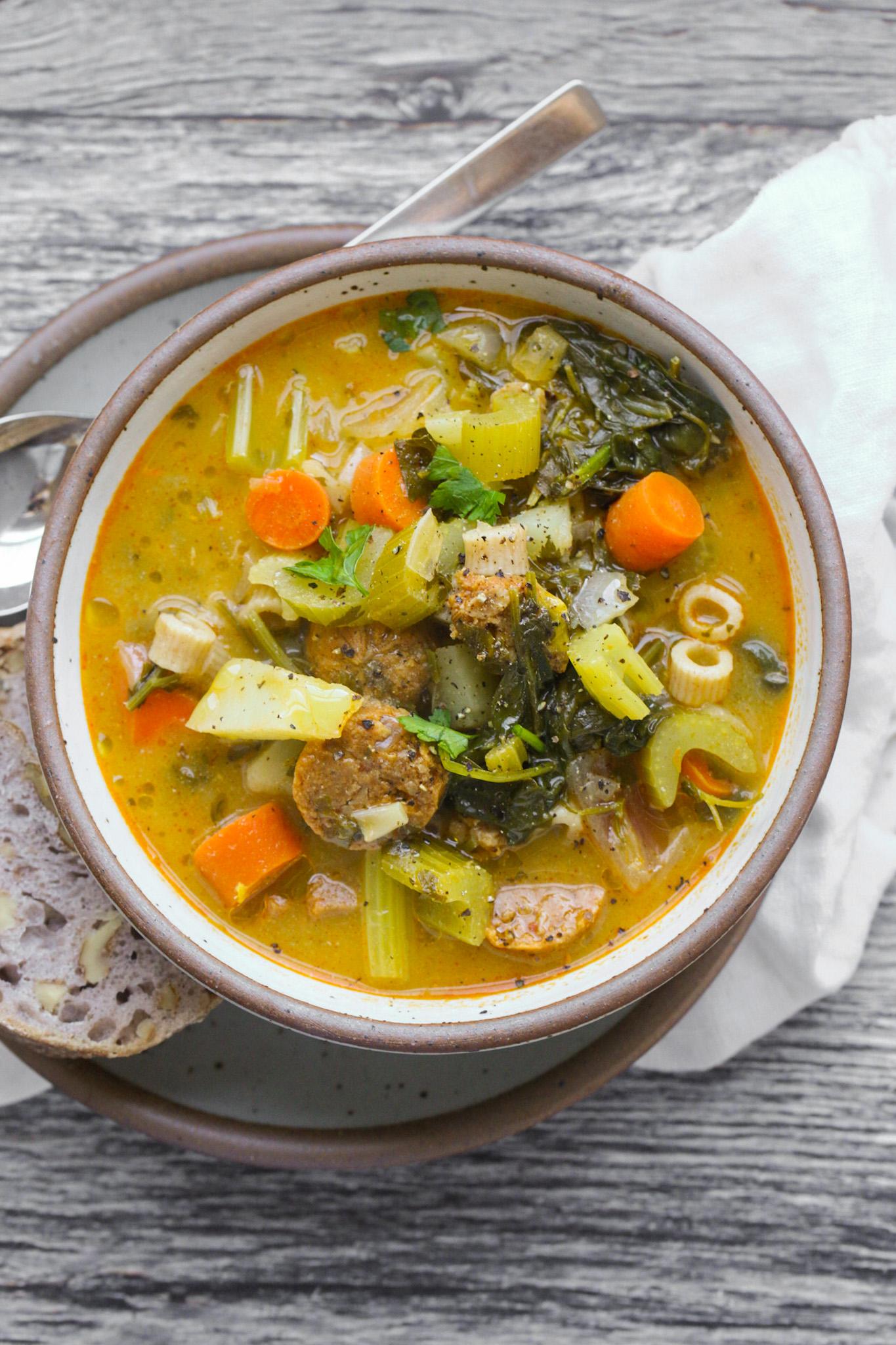 Sopa de verduras escuchada