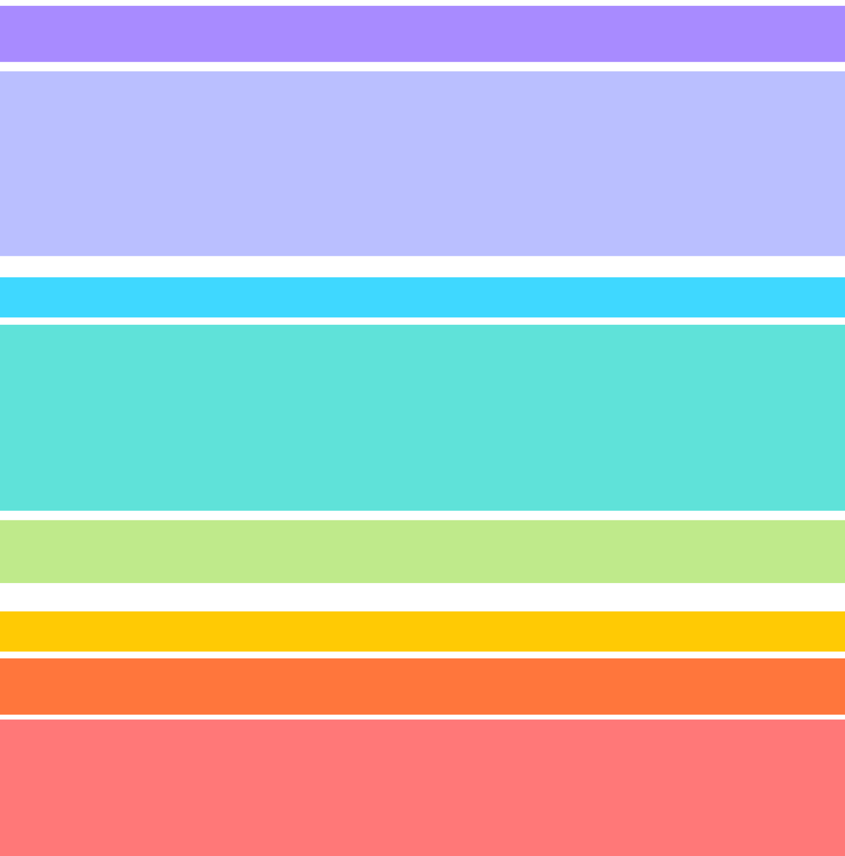 pastel rainbow color palette