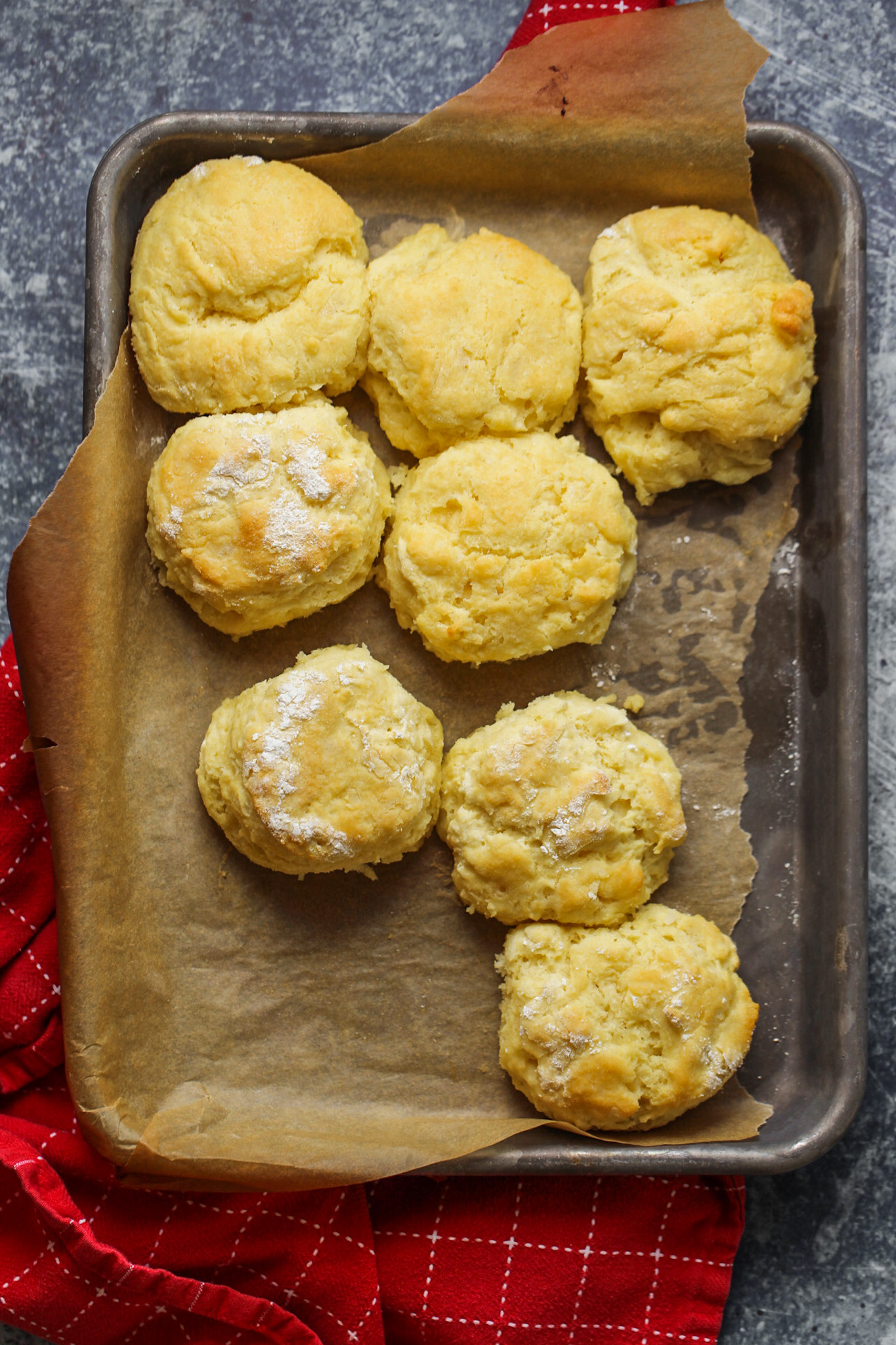 vegan buttermilk biscuits in pan