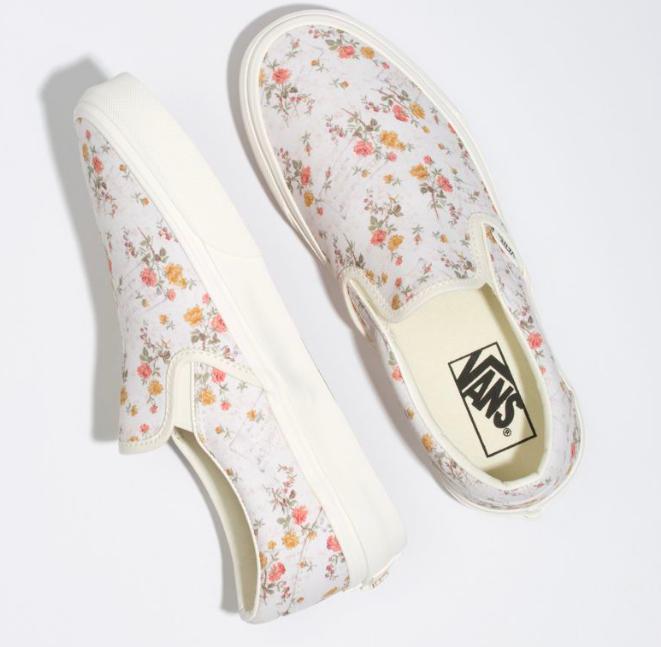 vans floral marshmallow shoes