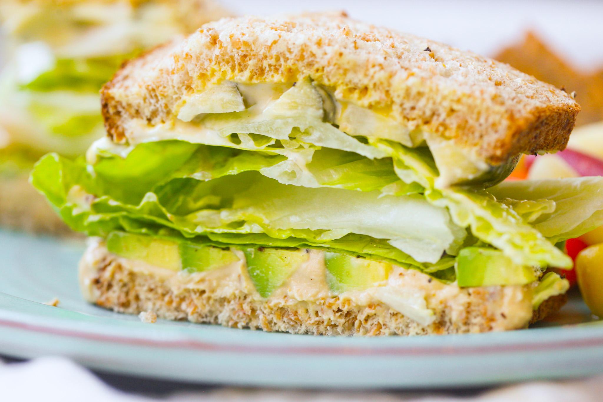 hummus veggie sandwich