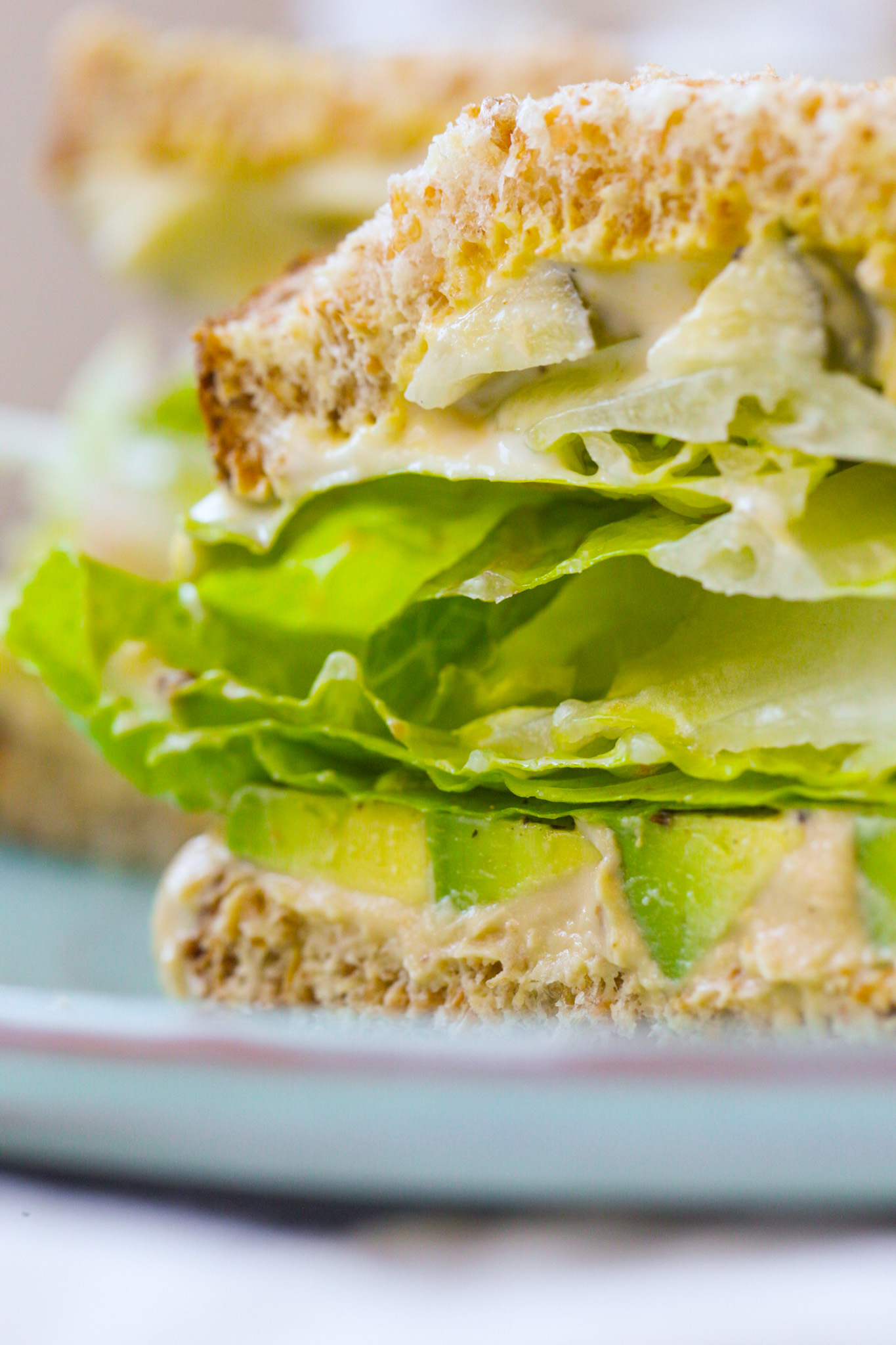 close up of Green Crunch 'n 'Cado Sandwich