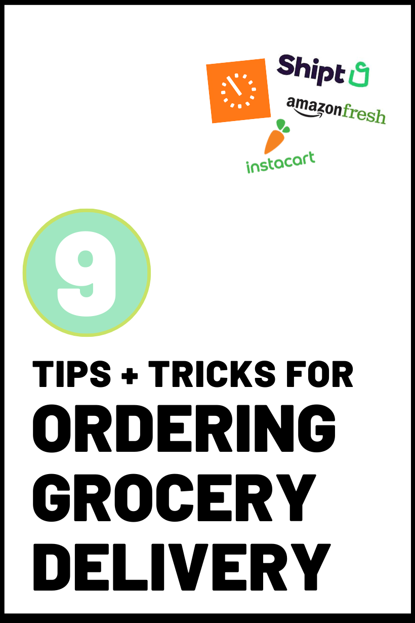 grocery delivery tips during coronavirus