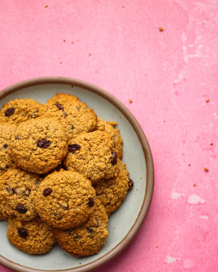 oatmeal raisin cookies on a plate