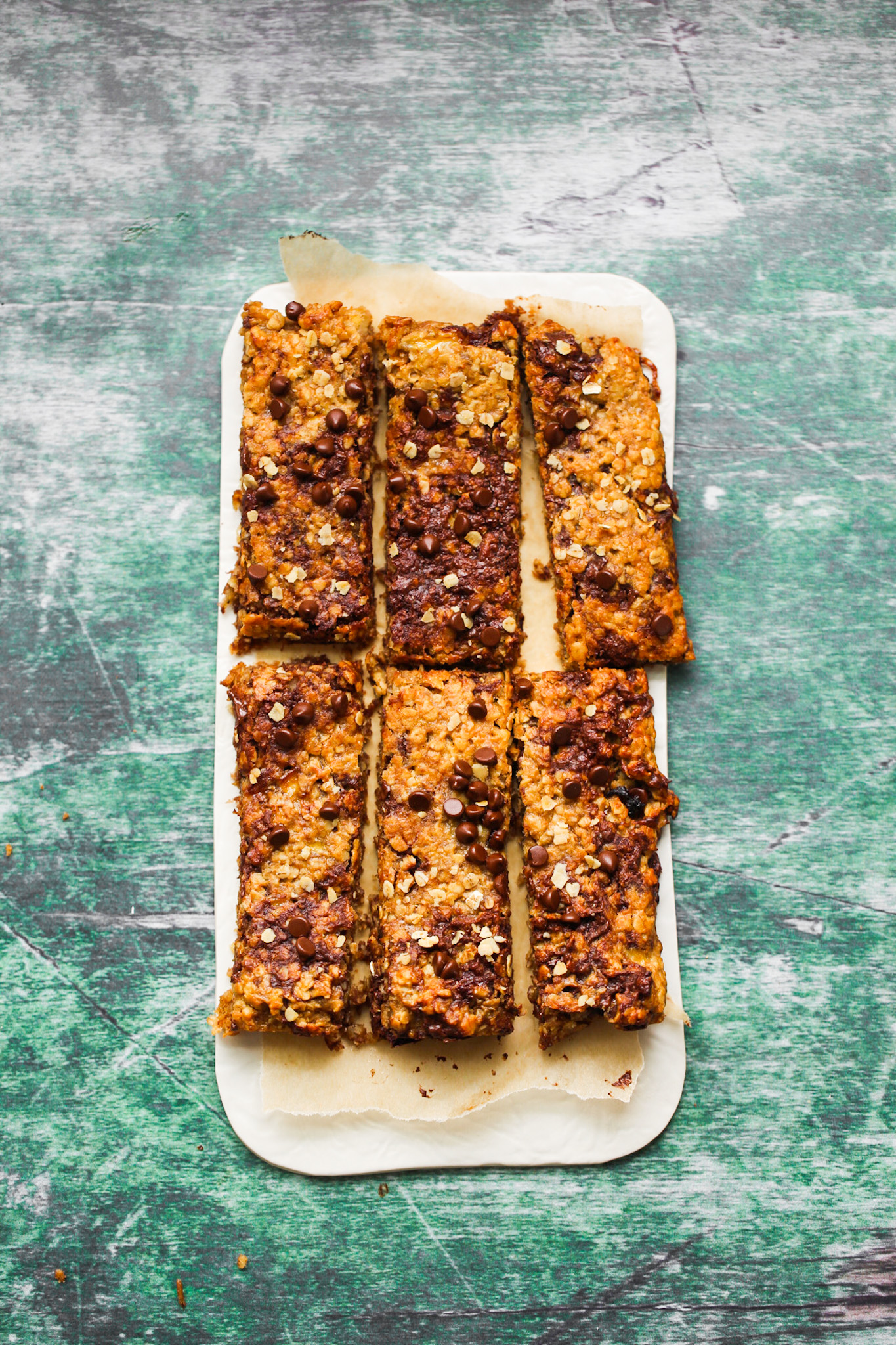 peanut butter banana flapjacks